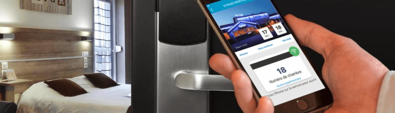 Kyriad hotel deur openen met app