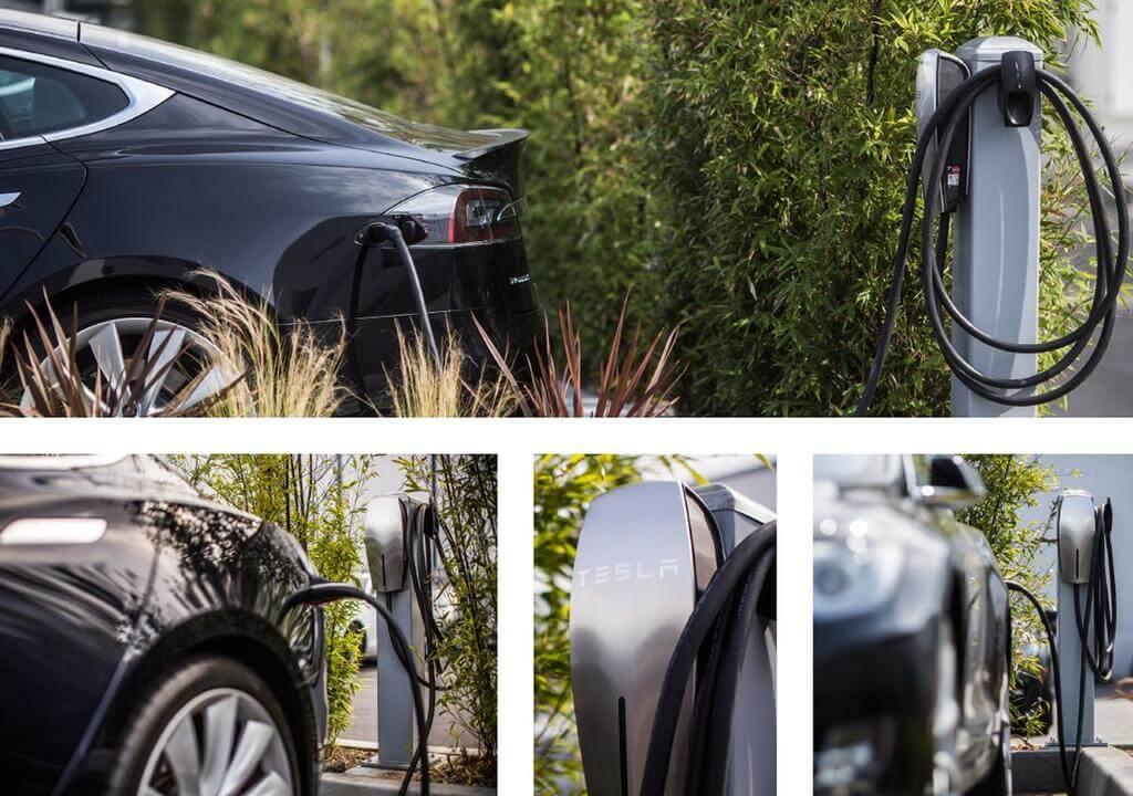 Kyriad hotel met laadpaal - Tesla