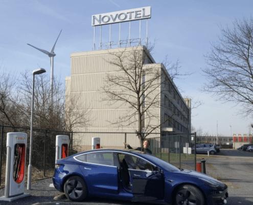 Novotel hotel met laadpaal