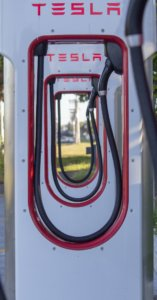 Tesla Superchargers close-up