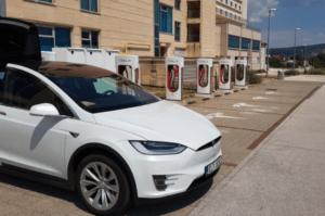 Hotel met Tesla laadpaal Kroatië
