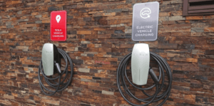 Hotel met Tesla laadpaal in Slowakije